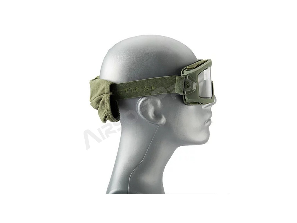 Airsoft Mask AERO Series Thermal - OD, three color lens [Lancer Tactical]