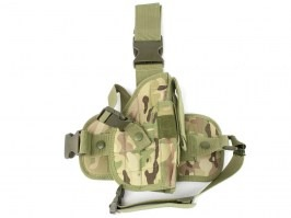 Universal Tactical Pistol Holster w/ Drop Leg Panel - Multicam