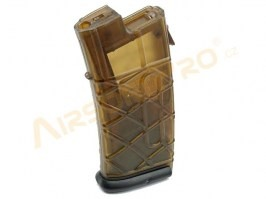 AUG AEG magazine - 330 Rounds, transparent, black base plate [Army]