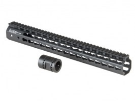 "Octarms™ Keymod style Float 15"" CNC Hand Guard - black [Ares/Amoeba]"