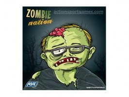 Cardboard target Zombie nation 14 x 14 cm No.1, 10pcs [ASG]