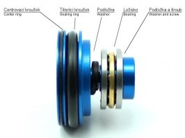 Metal flat piston head with the bearing [AirsoftPro]