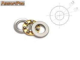 Axial bearing for sniper rifles spring guide