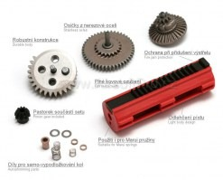 CNC gear set with piston and spacers [AimTop]