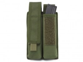 Double MOLLE magazine pouch for EVO Scorpion / MP5, MOLLE - OD [AS-Tex]