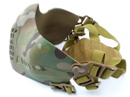 Face protecting Tactical Pilot mask - Multicam - UNCOMPLETE PACKAGE [Big Dragon]