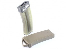 Mid-Cap 150 rds tracer magazine for M4 AEG + mag style bottle + 1200 tracer BBs - TAN