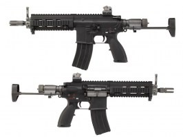 Airsoft 4168 GBB short version (888C) - full metal, blowback, black [WE]
