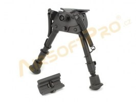 Metal spring return folding bipod with RIS adapter [DBoys]