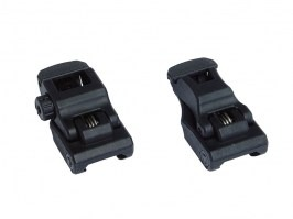 Backup polymer RIS mount sight set - front and rear  [Dytac]