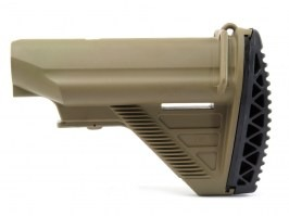 HK416 style collapsible battery stock for M4/M16 AEG - TAN [E&C]