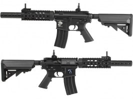 Airsoft rifle M4 RIS CQB with silencer - black (EC-607) [E&C]