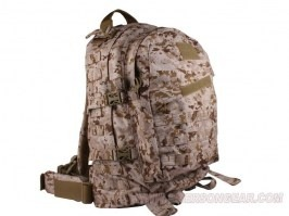3-Day Molle Assault Backpack Bag, Nylon 1000D, 35L - AOR1 [EmersonGear]