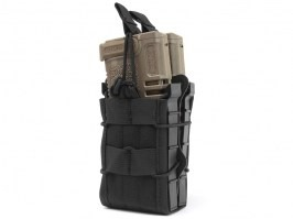 Double modular rifle magazine pouch - black [EmersonGear]