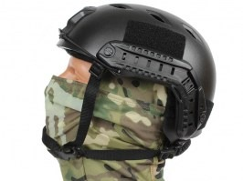 FAST Helmet - Base Jump type - black colour, NEW MODEL [EmersonGear]