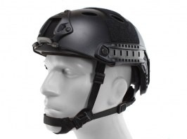 FAST Helmet - PJ type - black colour, NEW MODEL [EmersonGear]