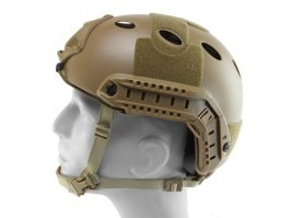 FAST Helmet - PJ type - DE colour, NEW MODEL [EmersonGear]