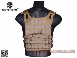 Jumer Plate Carrier With Triple M4 Pouch and dummy ballistic plates - Coyote Brown (CB) [EmersonGear]
