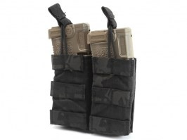 Modular Open Top Double MAG Pouch - Multicam Black [EmersonGear]
