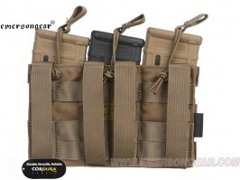 Modular Open Top Triple MAG Pouch - Coyote Brown (CB) [EmersonGear]