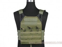 Jumer Plate Carrier With Triple M4 Pouch and dummy ballistic plates - OD [EmersonGear]
