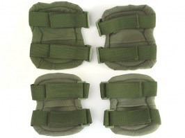 Tactical elbow and knee pad set - green (OD) [EmersonGear]