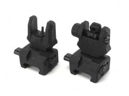 Front & rear folding polymer battlesight Gen.3 - black [FMA]