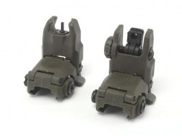 Mechanical FBUS RIS sights set GEN2 - OD [FMA]