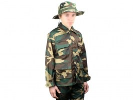 Kids BDU jacket - Woodland [Fostex Garments]