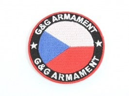 G&G velcro patch CZ flag - rounded [G&G]