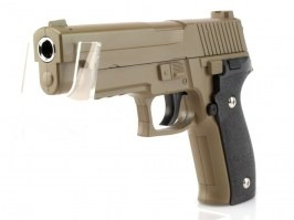 Airsoft pistol G.26 full metal spring action, P226 - desert [Galaxy]