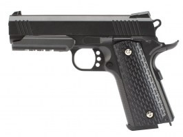 Airsoft pistol G.25 full metal spring action, 1911 RAIL - black [Galaxy]