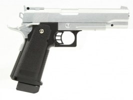 Airsoft pistol G.6 full metal spring action - silver [Galaxy]