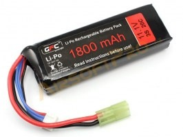 Battery Li-Po 11,1V 1800mAh 20/40C - Mini block [GFC]