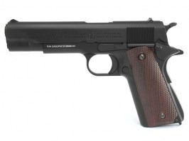 Airsoft pistol GPM1911, full metal, gas blowback (GBB) - black [G&G]