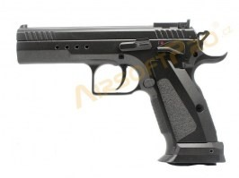 Airsoft pistol CZ75 Tactical model - fullmetal, CO2 blowback [KWC]