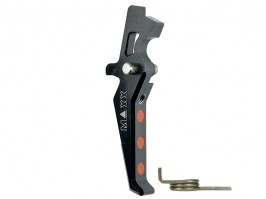CNC Aluminum Advanced Trigger (Style E) for M4 - black [MAXX Model]