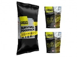 SURVIVAL FOOD PACK MENU IV - Venison ragoutwith potato dumplings + Chicken Korma with rice [Adventure Menu]
