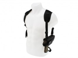 Shoulder pistol and magazine holster for G17/18, CZ, STI, M92 - black [ASG]