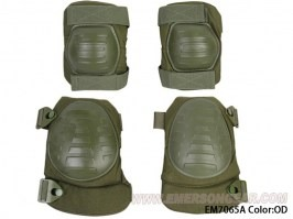 Military elbow and knee pad set - green (OD) [EmersonGear]