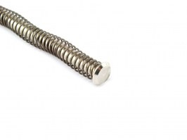 Enhanced recoil spring with guide for WE Glock G17, 18, 34, 35 - silver