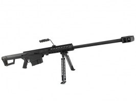 Airsoft sniper M82 A1 Barrett spring action sniper rifle, full metal, black [Snow Wolf]