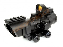 Rhino 4X32 Scope with the red dot [Theta Optics]