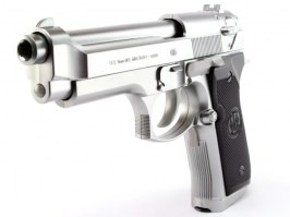 Airsoft electric pistol M92F Military silver, blowback (EBB) [Tokyo Marui]