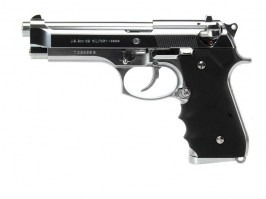 Airsoft pistol M92F Chrome Stainless, gas blowback (GBB) [Tokyo Marui]