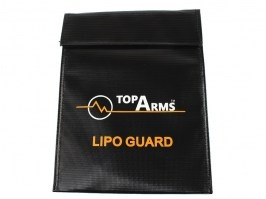 Safety fireproof bag for Li-Pol / Li-Ion battery charging, 18x23 cm [TopArms]