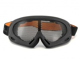 Eye protective mesh goggles - large, black [TopArms]
