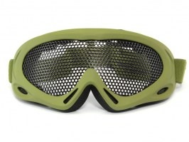 Eye protective mesh goggles - large, OD [TopArms]