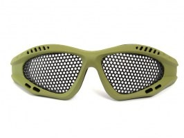 Eye protective mesh goggles - small, OD [TopArms]