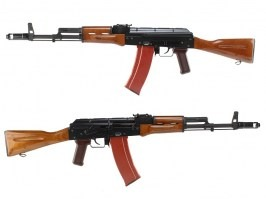 Airsoft rifle AK 74 GBB - full metal, blowback - real wood [WE]